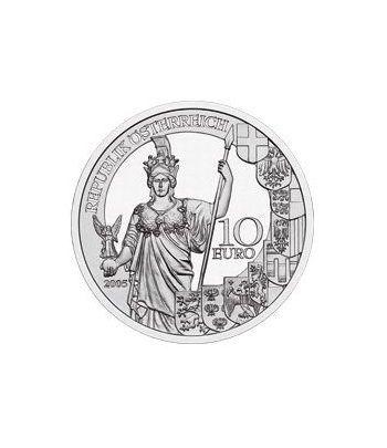 moneda Austria 10 Euros 2005 (Aniv. 2ª Republica)  - 1