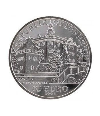 moneda Austria 10 Euros 2002 (Castillo d'Ambras). Estuche Proof.  - 1
