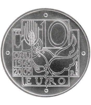 Italia 10 Euros 2005 60º aniversario ONU (estuche proof)  - 4