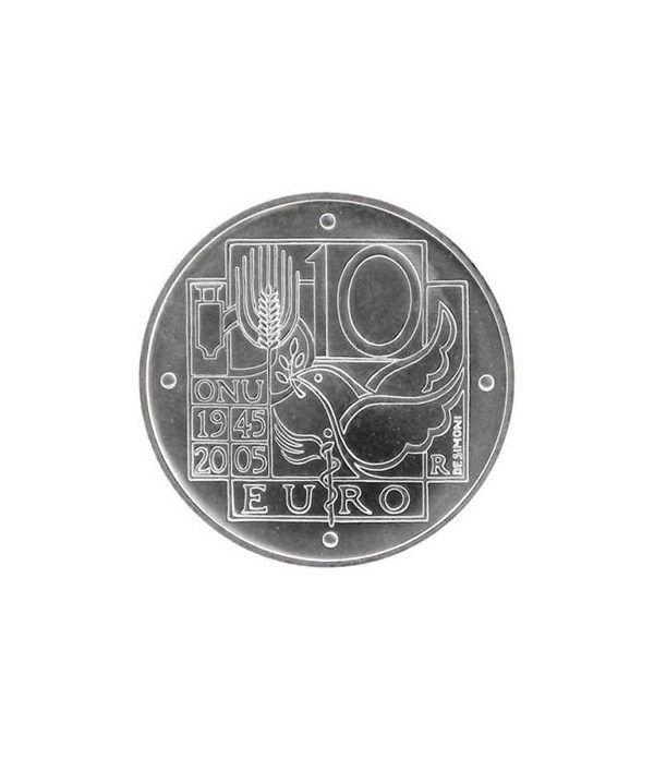 Italia 10 Euros 2005 60º aniversario ONU (estuche proof)  - 1