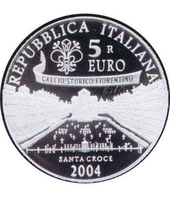 Italia 5 Euros 2004 FIFA (estuche proof)  - 1