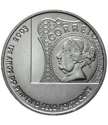 Portugal 5 Euros 2003 150 años primer sello portugués.  - 2