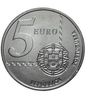 Portugal 5 Euros 2003 150 años primer sello portugués.  - 4