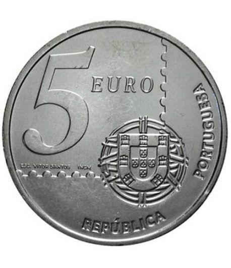 Portugal 5 Euros 2003 150 años primer sello portugués.  - 1