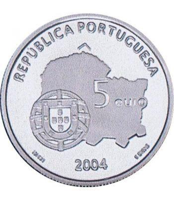 Portugal 5 Euros 2004 Unesco Evora. Plata  - 2