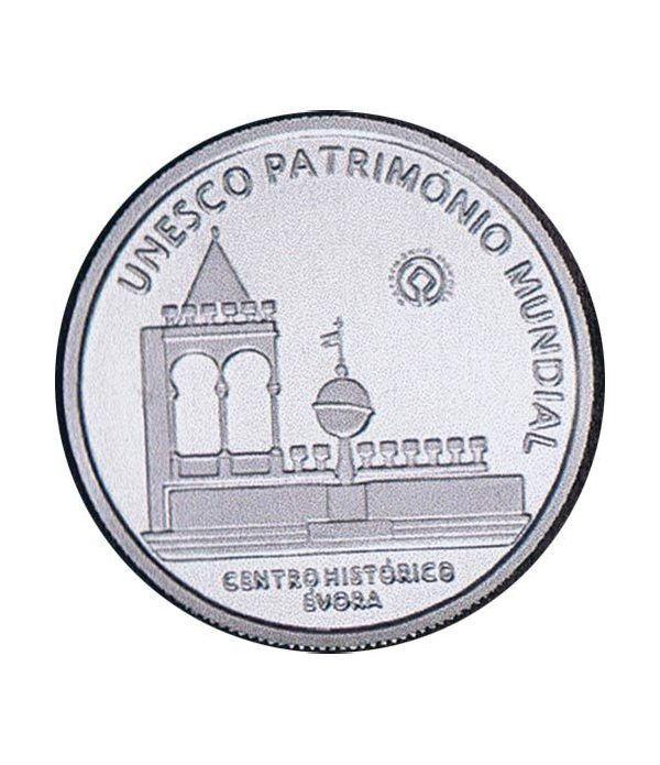Portugal 5 Euros 2004 Unesco Evora. Plata  - 1