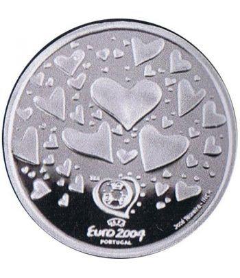 Portugal 8 Euros 2003 UEFA corazones. Plata.  - 2