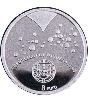 Portugal 8 Euros 2003 UEFA corazones. Plata.  - 1