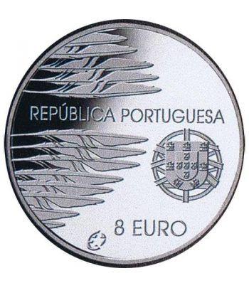 Portugal 8 Euros 2005 Fin II Guerra Mundial. Plata.  - 2