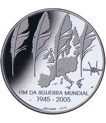 Portugal 8 Euros 2005 Fin II Guerra Mundial. Plata.  - 1