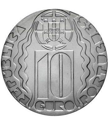 Portugal 10 Euros 2004 Olimpiadas Atenas. Plata.  - 1