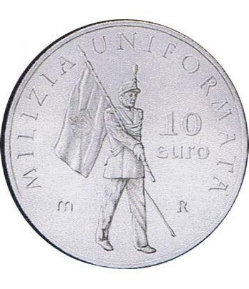 San Marino 10 Euros de plata Uniforme Militar año 2005  - 1