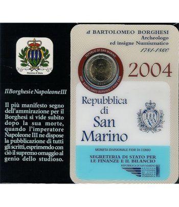 moneda conmemorativa 2 euros San Marino 2004. Est. Oficial  - 2