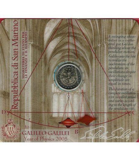 moneda conmemorativa 2 euros San Marino 2005. Est. Oficial  - 2