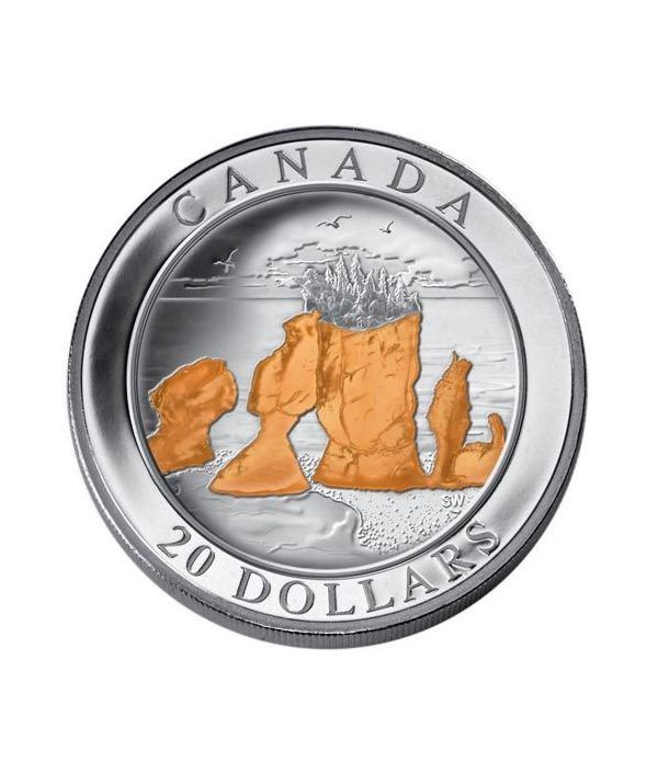 Canada 20$ 2004 Maravillas de la Naturaleza. Rocas Hopewell  - 1