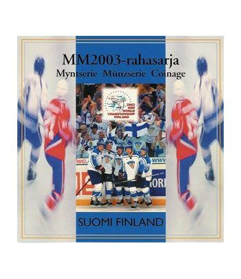 Cartera oficial euroset Finlandia 2003. Hockey.  - 2