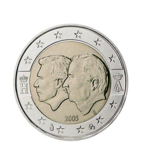 moneda conmemorativa 2 euros Belgica 2005.  - 2