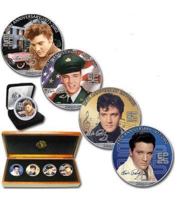 Monedas de plata 1$ Estados Unidos Elvis 2005. 4 monedas  - 2