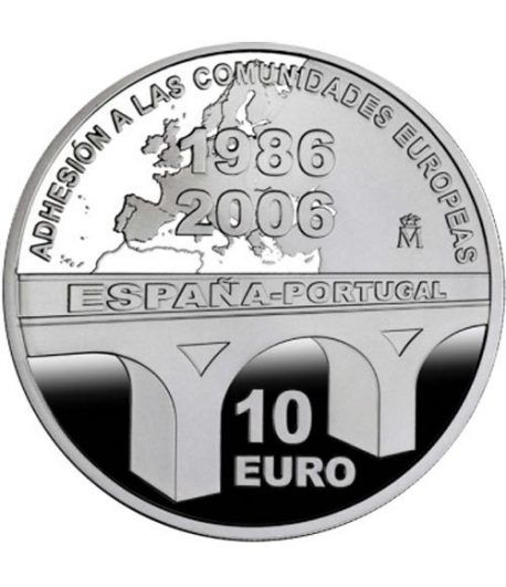 Moneda 2006 XX aniversario CE 10 euros. Plata.  - 2