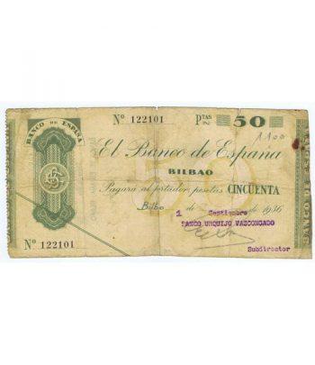 (1936) BILBAO. 50 Pesetas. MBC  - 2
