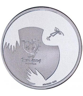 Portugal 8 Euros 2004 UEFA Portero. Plata.  - 1