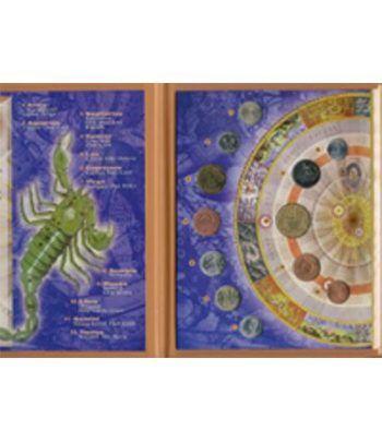 Colección de monedas del Zodíaco con estuche. Astrological  - 2