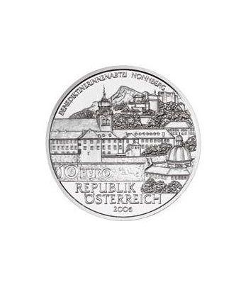 moneda Austria 10 Euros 2006. Convento Nonnberg. Plata.  - 1