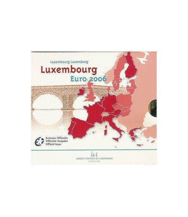Cartera oficial euroset Luxemburgo 2006  - 2