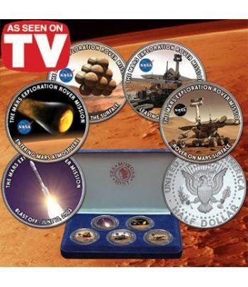 """E.E.U.U. 1/2$ (2004) Exploración en Marte """"set de 5""""  - 2"""