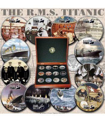 E.E.U.U. 1/2$ 2006 Titanic. Barco. 12 monedas.  - 2