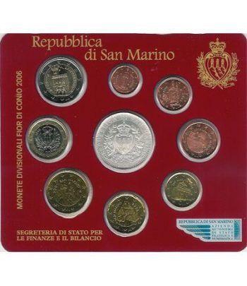 Cartera oficial euroset San Marino 2006 + 5€ (plata)  - 2