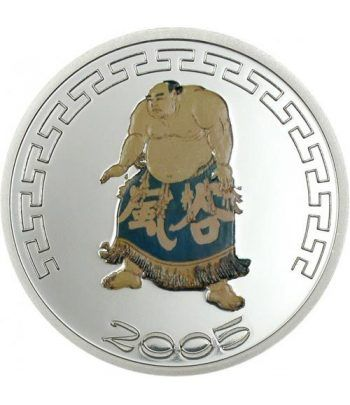 Moneda de plata Mongolia 500 Tugrik 2005 Sumo color II.  - 2