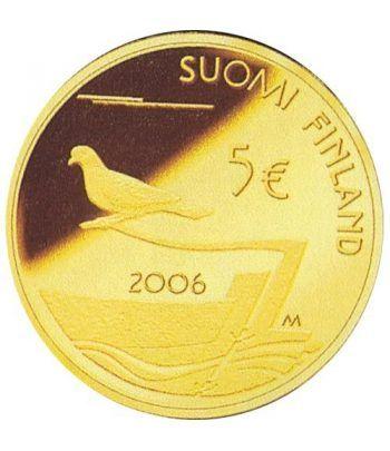 moneda Finlandia 5 Euros 2006 Desmilitarización de Aland.  - 1