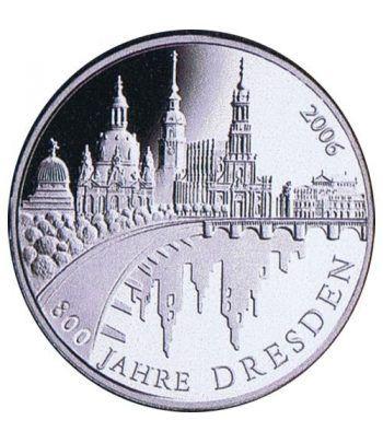 moneda Alemania 10 Euros 2006 A. Dresden.  - 2