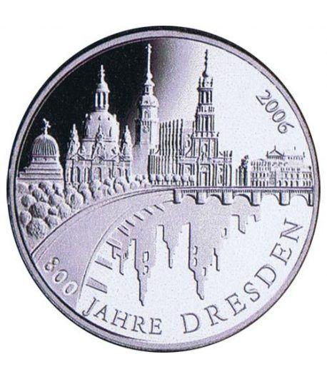 moneda Alemania 10 Euros 2006 A. Dresden.  - 1