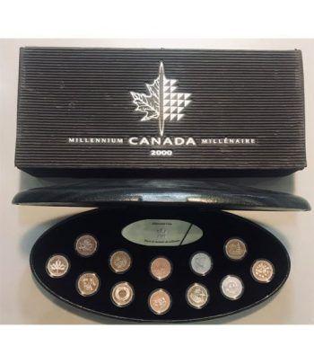 Canada 25 Cts. 2000. Monedas milenarias. Plata  - 1