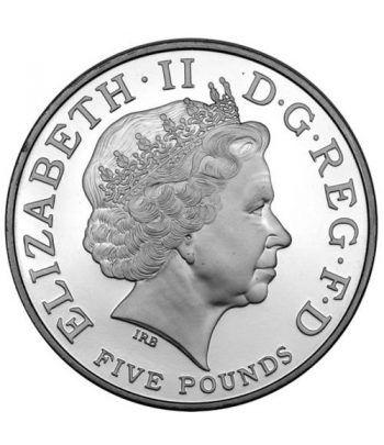 Moneda de plata 80 Aº Reina Isabel 5 Pounds Inglaterra 2006.  - 2