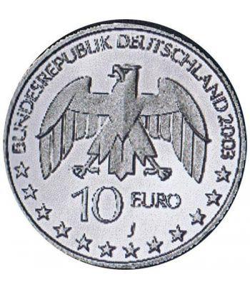 moneda Alemania 10 Euros 2003 J. Justus von Liebig.  - 4