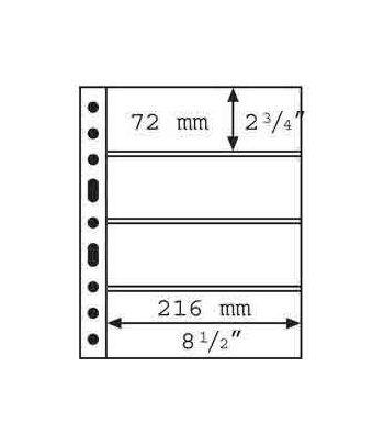 LEUCHTTURM GRANDE 5 hojas transparentes con 4 departamentos. Album billetes - 2