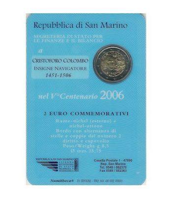 moneda conmemorativa 2 euros San Marino 2006. Est. Oficial  - 2