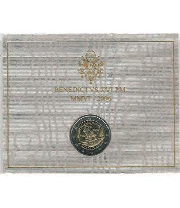 moneda conmemorativa 2 euros Vaticano 2006. Estuche Oficial.  - 2