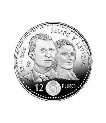 Moneda conmemorativa 12 euros 2004 Boda Principe  - 2