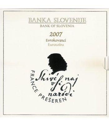 Cartera oficial euroset Eslovenia 2007  - 2