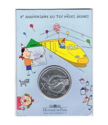 Moneda Francia 1/4 euro 2006 Aniversario TGV. Blister.  - 1