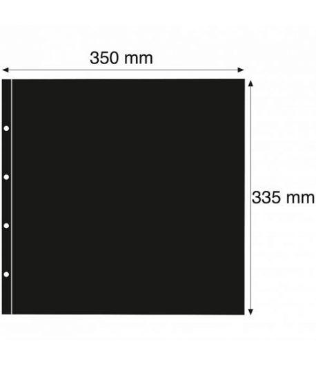 "LEUCHTTURM ""MAXIMUM"" 5 hojas separadoras negro (postal moderna) Album postales - 2"
