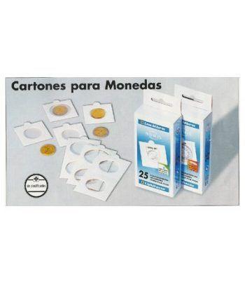 LEUCHTTURM 100 cartones adhesivos monedas 25 mm. Cartones Monedas - 2