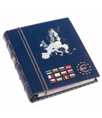 LEUCHTTURM VISTA Album Euro. 6 hojas con cajetin. Tomo II. Album Monedas Euro - 1