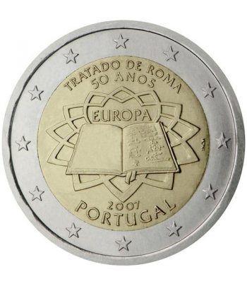 moneda Portugal 2 euros 2007 Tratado de Roma  - 2