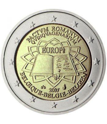 moneda Bélgica 2 euros 2007 Tratado de Roma  - 2