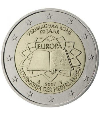 moneda Holanda 2 euros 2007 Tratado de Roma  - 2